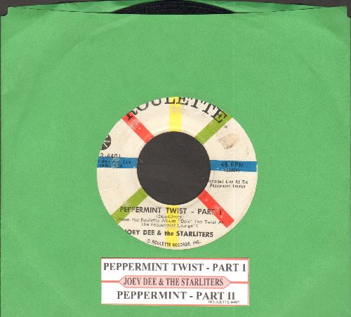 Dee, Joey & The Starliters - Peppermint Twist (Parts 1+2) (with juke box label)(wol) - VG7/ - 45 rpm Records