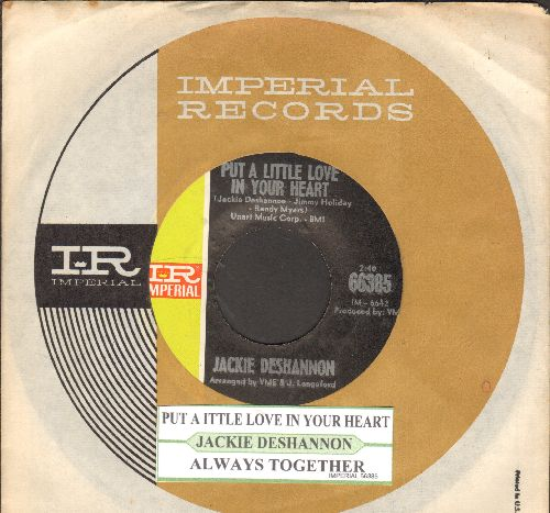 DeShannon, Jackie - Put A Little Love In Your Heart/Always Together (with juke box label and Imperial company sleeve) - NM9/ - 45 rpm Records
