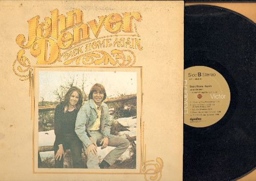 Denver, John - Back Home Again: Thank God I'm A Country Boy, Annie's Song, It's Up To You (vinyl STEREO LP record, gate-fold cover) - EX8/VG7 - LP Records