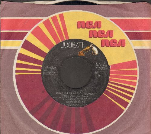 Denver, John - Some Days Are Diamonds (Some Days Are Stone)/Country Love (double-hit re-issue with RCA company sleeve) - NM9/ - 45 rpm Records