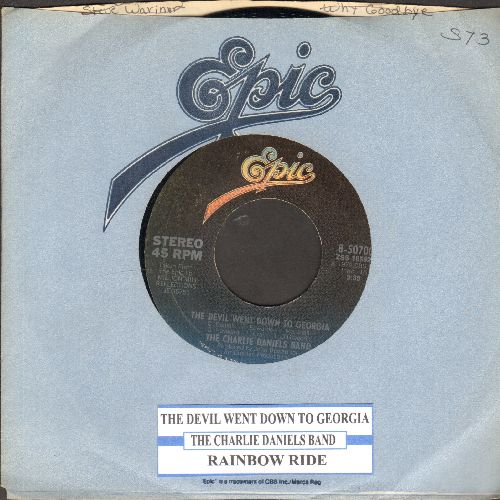 Daniels, Charlie Band - The Devil Went Down To Georgia/Rainbow Ride (with juke box label Epic company sleeve) - EX8/ - 45 rpm Records