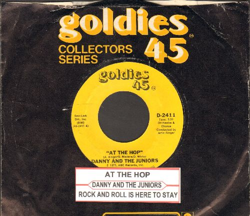 Danny & The Juniors - At The Hop/Rock And Roll Is Here To Stay (double-hit re-issue with juke box label and company sleeve) - NM9/ - 45 rpm Records