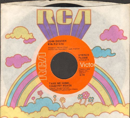 Denver, John - Take Me Home, Country Roads/Poems, Prayers And Promises (with RCA company sleeve) - EX8/ - 45 rpm Records