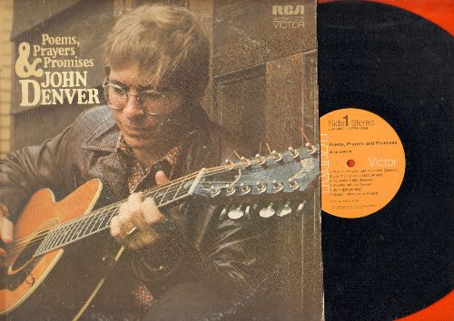 Denver, John - Poems, Prayers & Promises: Let It Be, Take Me Home Country Roads, Sunshine On My Shoulders, Fire And Rain (vinyl STEREO LP record) - EX8/VG7 - LP Records