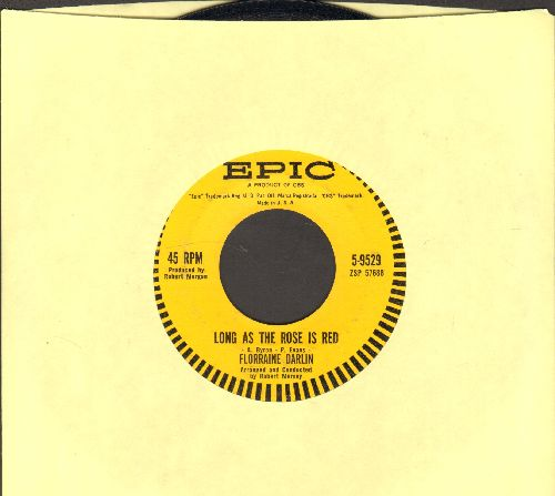 Darlin, Florraine - I Don't Know/Long As The Rose Is Red  - EX8/ - 45 rpm Records
