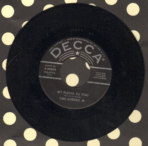 Dobkins, Carl Jr. - My Heart Is An Open Book/My Pledge To You (black label, silver star first issue) - VG7/ - 45 rpm Records