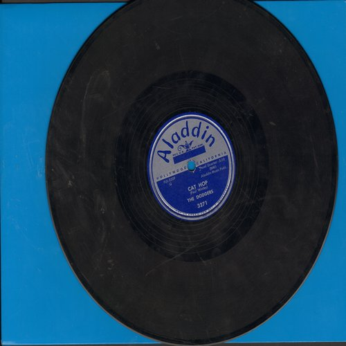 Dodgers - Drip Drop/Cat Hop (FANTASTIC Vintage R&B two-sider! - RARE 10 inch 78 rpm record) - VG7/ - 78 rpm