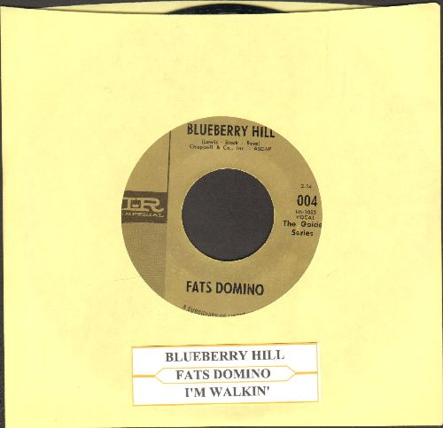 Domino, Fats - Blueberry Hill/I'm Walkin' (authentic-looking double-hit re-issue with juke box label) - EX8/ - 45 rpm Records