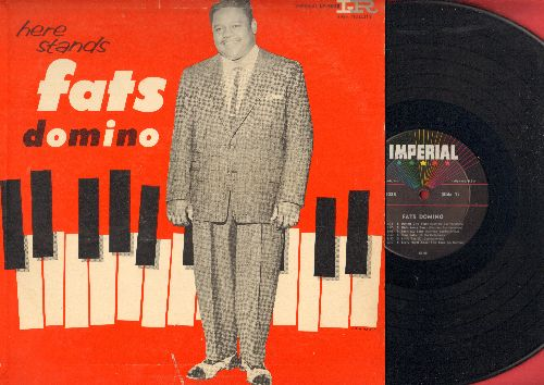 Domino, Fats - Here Stands Fats Domino: I'm Walkin', I'm In The Mood For Love, Detroit City Blues, I'll Be Gone (vinyl MONO LP record, RARE 1957 first pressing) - EX8/VG7 - LP Records