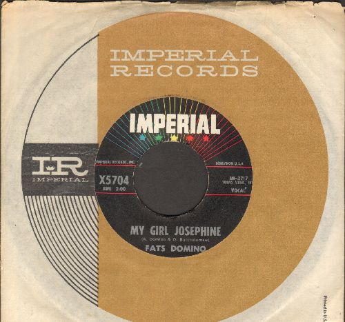 Domino, Fats - My Girl Josephine/Natural Born Lover (with Imperial company sleeve) - EX8/ - 45 rpm Records