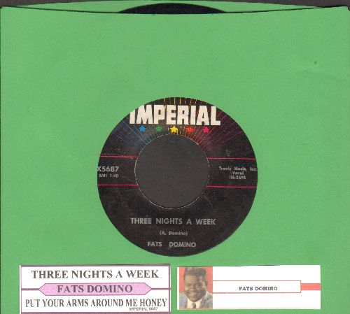 Domino, Fats - Three Nights A Week/Put Your Arms Around Me Honey - NM9/ - 45 rpm Records