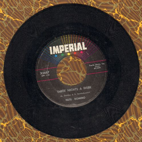 Domino, Fats - Three Nights A Week/Put Your Arms Around Me Honey - EX8/ - 45 rpm Records