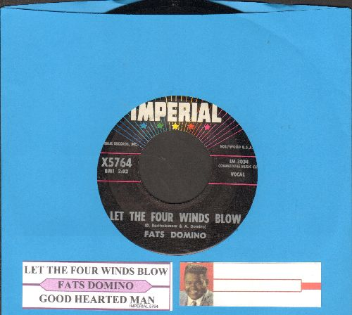 Domino, Fats - Let The Four Winds Blow/Good Hearted Man (with juke box label) - NM9/ - 45 rpm Records