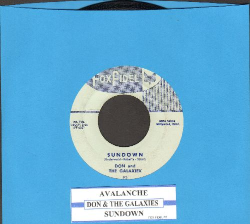 Don & The Galaxies - Sundown/Avalanche (EXTREMELY RARE Vintage Rock & Roll Instrumental 2-sider, with juke box label) - EX8/ - 45 rpm Records