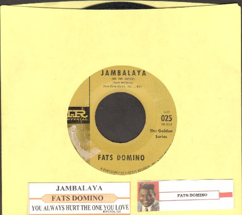 Domino, Fats - Jambalaya (On The Bayou)/I Hear You Knocking (authentic-looking reissue with juke box label) - VG7/ - 45 rpm Records