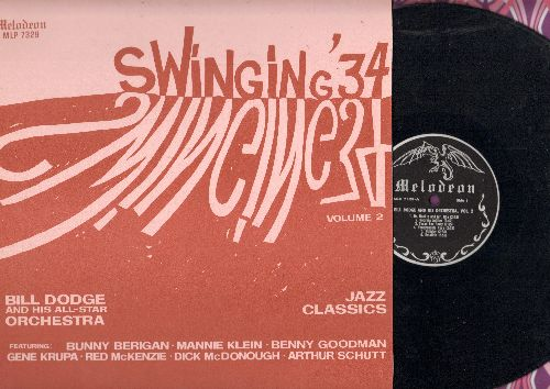 Dodge, Bill & His All-Star Orchestra - Swinging '34 Vol. 2: Love Me Or Leave Me, Emaline, Georgia Jubilee (vinyl LP record, re-issue of vintage Jazz recordings) - EX8/EX8 - LP Records