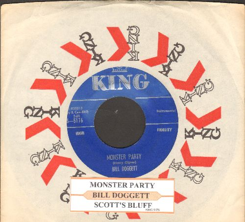 Doggett, Bill - Monster Party (RARE Halloween Jazz Novelty!)/Scott's Bluff (with juke box label and King company sleeve) - EX8/ - 45 rpm Records