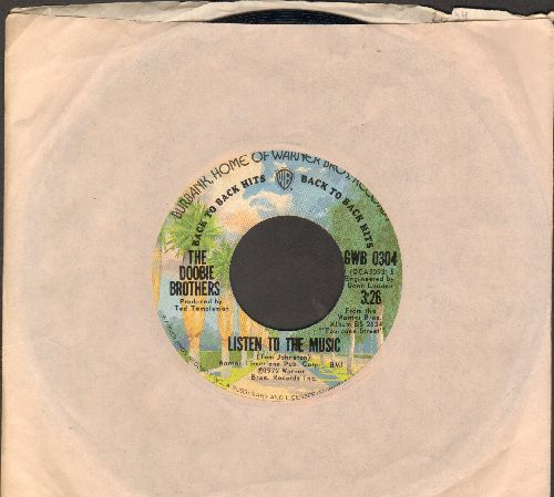 Doobie Brothers - Listen To The Music/Long Train Runnin' (double-hit re-issue with Warner Brothers company sleeve) - EX8/ - 45 rpm Records