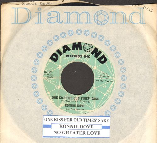 Dove, Ronnie - One Kiss For Old Times Sake/Bluebird (with juke box label and Diamond company sleeve) - NM9/ - 45 rpm Records