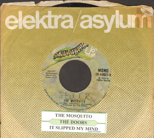 Doors - The Mosquito/It Slipped My Mind (with juke box label and Elektra company sleeve)  - EX8/ - 45 rpm Records