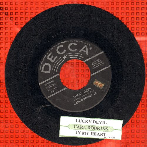 Dobkins, Carl Jr. - Lucky Devil/(There's A Little Song A-Singing) In My Heart  - VG7/ - 45 rpm Records