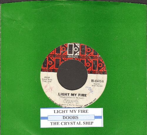Doors - Light My Fire/The Crystal Ship (with juke box label and company sleeve) (minor wol) - EX8/ - 45 rpm Records