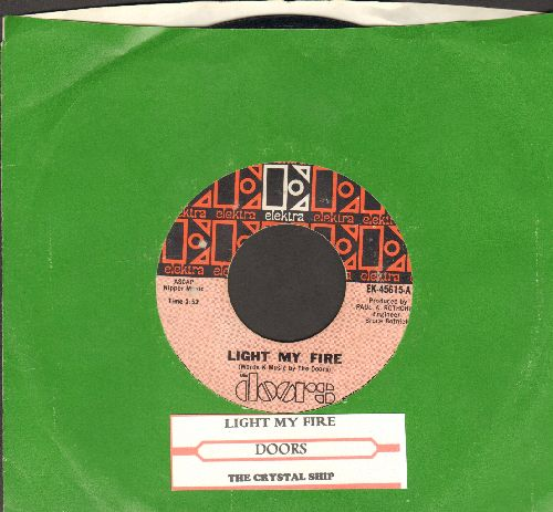 Doors - Light My Life/The Crystal Ship (with juke box label and Elektra company sleeve) - EX8/ - 45 rpm Records