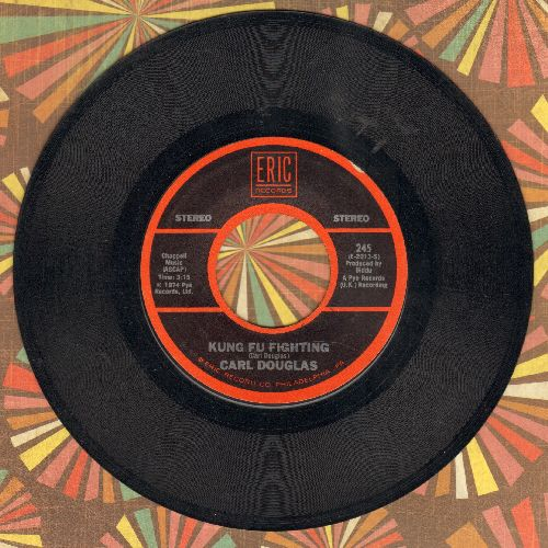 Douglas, Carl - Kung Fu Fighting/Dance The Kung Fu (early double-hit re-issue) - EX8/ - 45 rpm Records