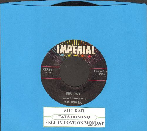Domino, Fats - Shu Rah/Fell In Love On Monday (with juke box label) - NM9/ - 45 rpm Records