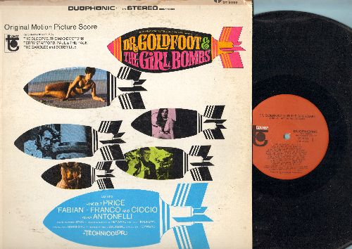 Dr. Goldfoot & The Girl Bombs - Dr. Goldfoot & The Girl Bombs - Original Motion Picture Score, includes title song by The Sloopys. (vinyl Duophonic STEREO LP record) - NM9/VG6 - LP Records