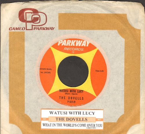 Dovells - Watusi With Lucy/What In The World's Come Over You (with juke box label and RARE Parkway company sleeve) - NM9/ - 45 rpm Records