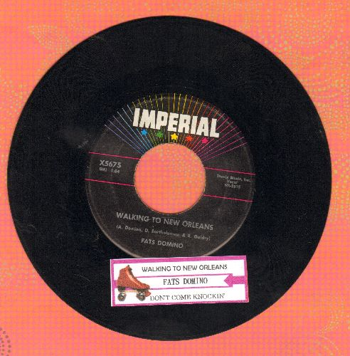 Domino, Fats - Walking To New Orleans/Don't Come Knockin' (with juke box label) - EX8/ - 45 rpm Records