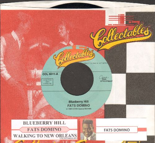 Domino, Fats - Blueberry Hill/Walking To New Orleans (double-hit re-issue with juke box label and company sleeve) - NM9/ - 45 rpm Records