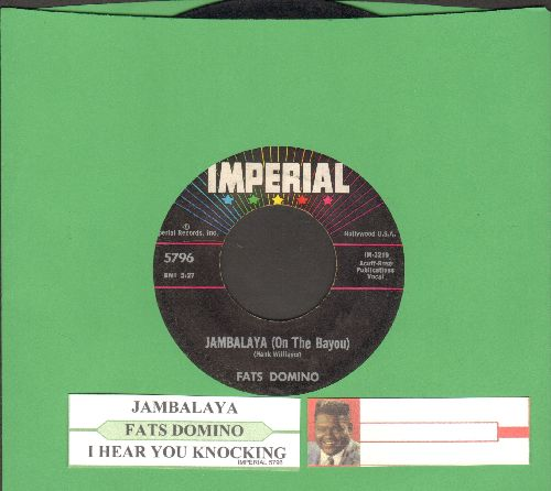 Domino, Fats - Jambalaya (On The Bayou)/I Hear You Knocking (with juke box label) - VG7/ - 45 rpm Records