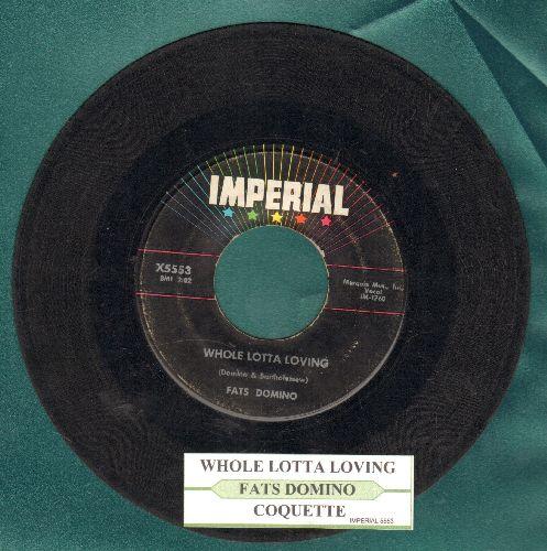 Domino, Fats - Whole Lotta Loving/Coquette (with juke box label) - VG7/ - 45 rpm Records