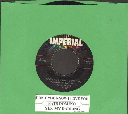 Domino, Fats - I Want You To Know/The Big Beat (with juke box label) - VG7/ - 45 rpm Records