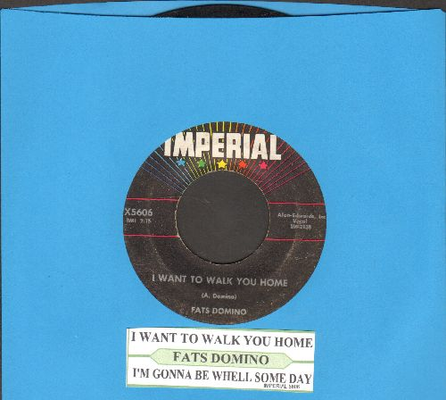 Domino, Fats - I Want To Walk You Home/I'm Gonna Be A Wheel Someday (with juke box label) - VG7/ - 45 rpm Records