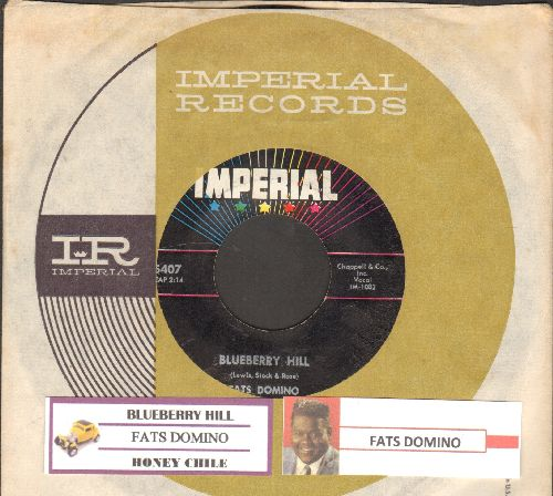 Domino, Fats - Blueberry Hill/Honey Chile (with juke box label and Imperial company sleeve) - EX8/ - 45 rpm Records