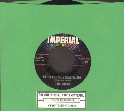 Domino, Fats - Did You Ever See A Dream Walking/Stop The Clock (with juke box label) - EX8/ - 45 rpm Records