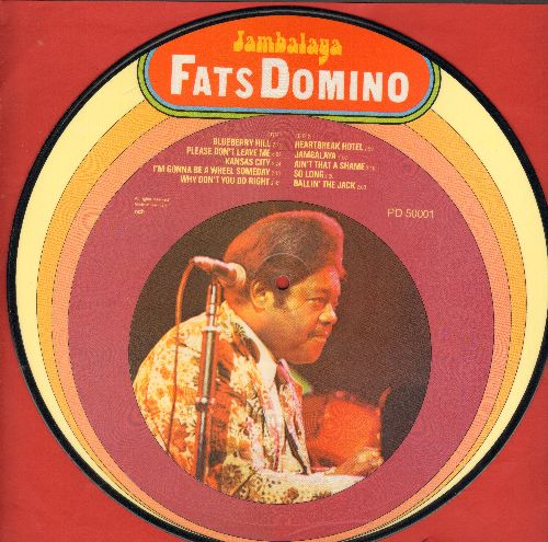 Domino, Fats - Jambalaya: Blueberry Hill, Ain't That A Shame, Ballin' The Jack, Why Don't You Do Right (RARE Picture Disc, Danish Pressing) - NM9/ - LP Records