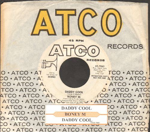 Boney M - Daddy Cool (Original 1976 Euro-Dance Sensation!)(double-A-sided MONO/STEREO DJ advance pressing with Atco company sleeve) - NM9/ - 45 rpm Records