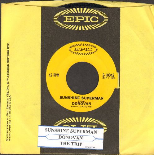 Donovan - Sunshine Superman/The Trip (with juke box label and Epic company sleeve) - NM9/ - 45 rpm Records