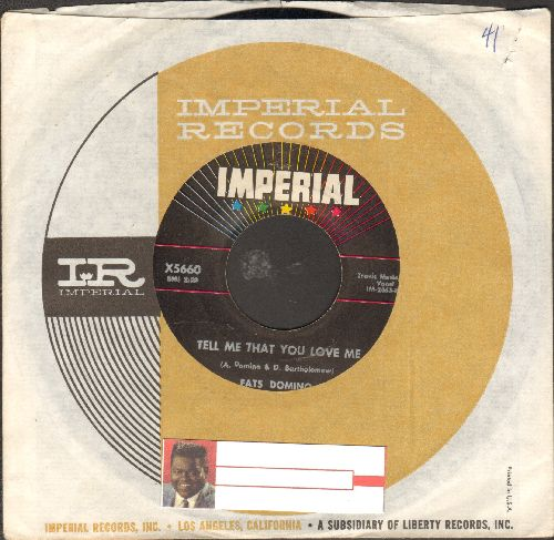 Domino, Fats - Tell Me That You Love Me/Before I Grow Too Old (with Imperial company sleeve) - EX8/ - 45 rpm Records