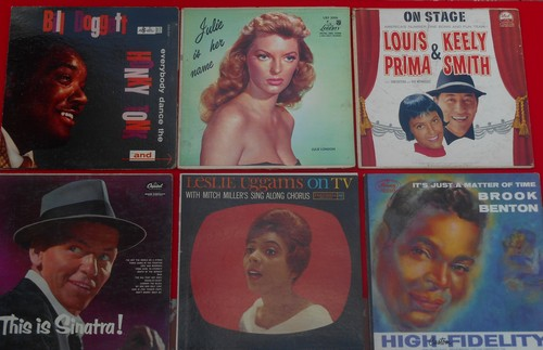 LP Cover 6-Pack - Set #8 includes 6 Vintage LP covers (NO records!) - Exactly as pictured, great for decoration or as replacement covers.  - VG7/ - Supplies