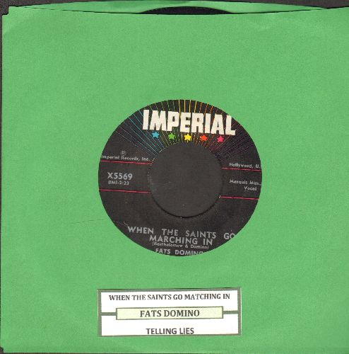 Domino, Fats - When The Saints Go Marching In/Telling Lies (with juke box label) - NM9/ - 45 rpm Records