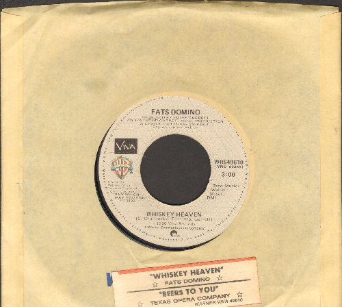 Domino, Fats - Whiskey Heaven/Beers To You (featured in film -Any Which Way But Loose-) (with juke box label and Warner Brothers company sleeve) - VG7/ - 45 rpm Records