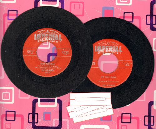 Domino, Fats - 2 for 1 Special: Blue Monday/It's You I Love (2 vintage first issue 45rpm records with juke box labels for the price of 1!) - VG7/ - 45 rpm Records