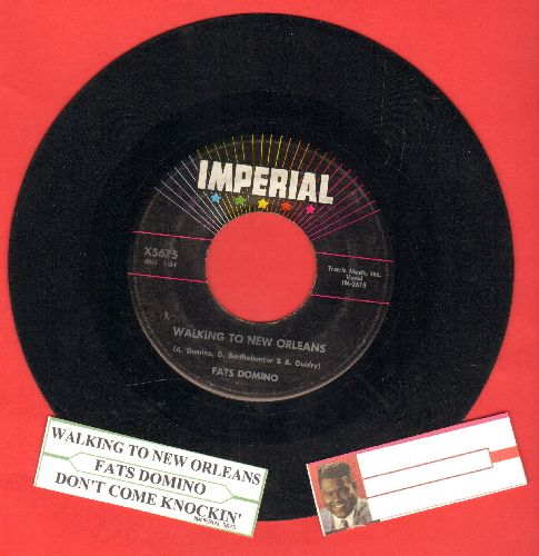 Domino, Fats - Walking To New Orleans/Don't Come Knockin' (with juke box label) - VG7/ - 45 rpm Records