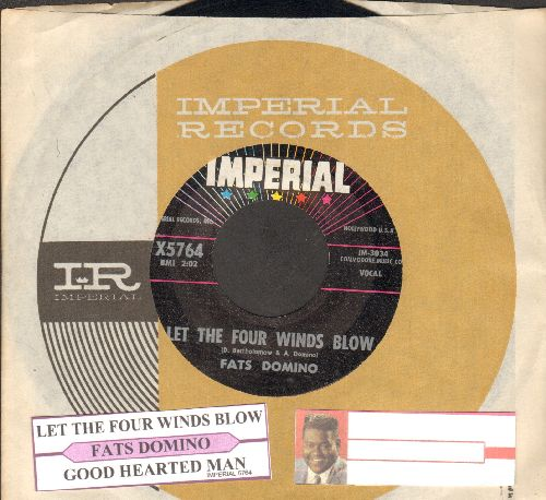 Domino, Fats - Let The Four Winds Blow/Good Hearted Man (with Imperial company sleeve and juke box label) - EX8/ - 45 rpm Records