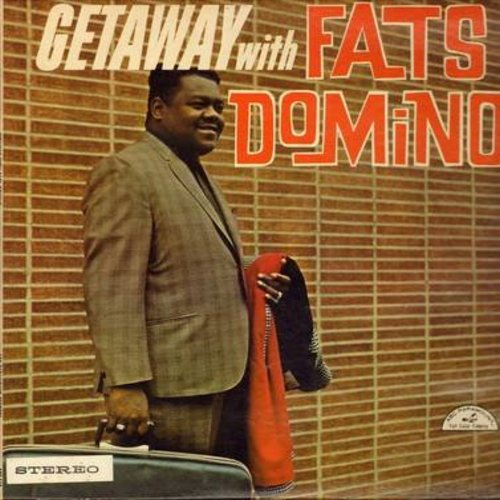Domino, Fats - Getaway with Fats Domino: Ballin' The Jack, Monkey Business, Kansas City, When My Dreamboat Comes Home, Slow Boat To China (Vinyl STEREO LP record, vinyl near mint, covr has water damage at bottom) - NM9/EX8 - LP Records